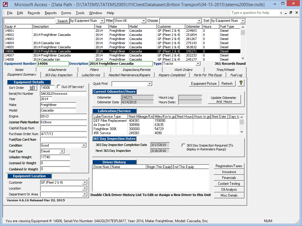 TATEMS-Fleet-Maintenance-Software-Equipment-Summary-Form