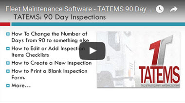 TATEMS 90 Day Inspections Tab Help Video