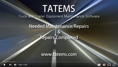 TATEMS Needed Maintenance An d Repairs Completed Tabs Tab Help Video