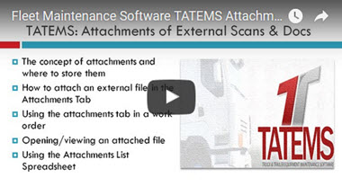 TATEMS Attachments Tab And Attachments List Spreadsheet Help Video
