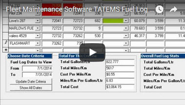 TATEMS Fuel Log Tab And Fuel Log Reports Help Video