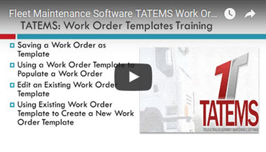 TATEMS Work Order Templates Help Video