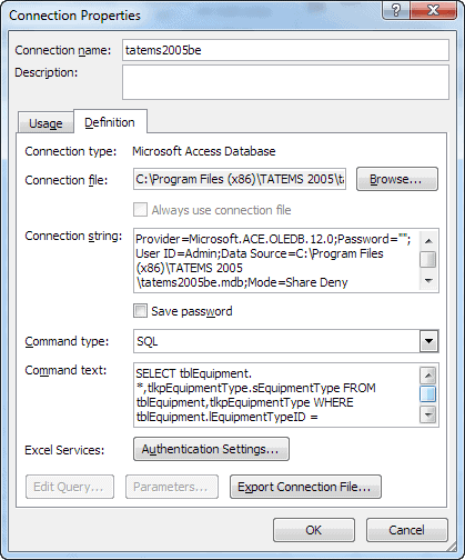Excel-2010-Connection-Properties-Command-Text-And-Command-Type-Popup-Screenshot