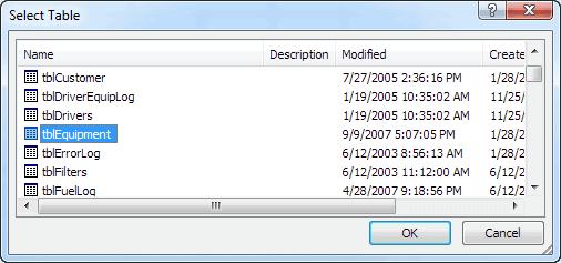 Excel-Select-tblEquipment-From-TATEMS-Fleet-Maintenance-Software-Database