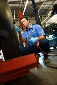 Mechanic working on Tire