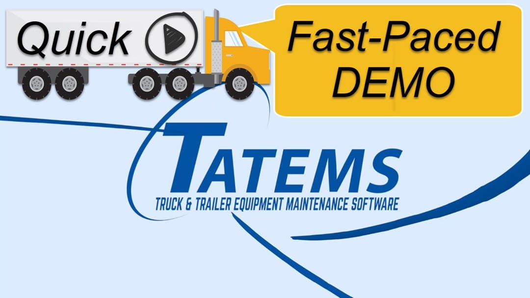Fleet Maintenance Software Fast Paced Demo Video
