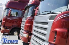 Semi tractor trailer truck fleet
